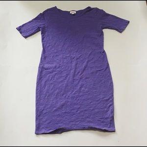 LulaRoe Solid Purple Julia Dress